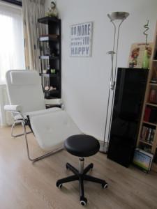 op deze afbeelding een blik in de salon van Voetreflex Huizen